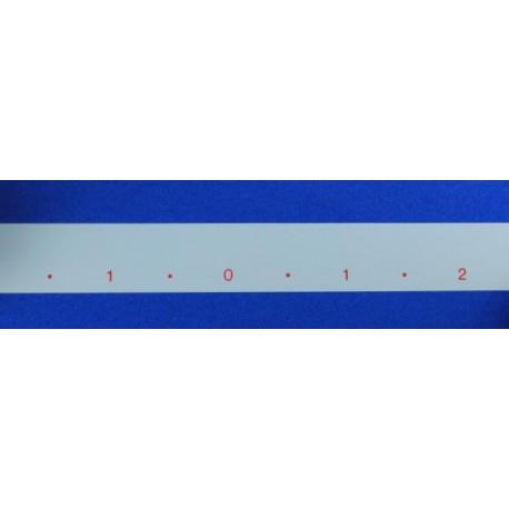 Cinta numeración agujas 4,5mm electrónicas